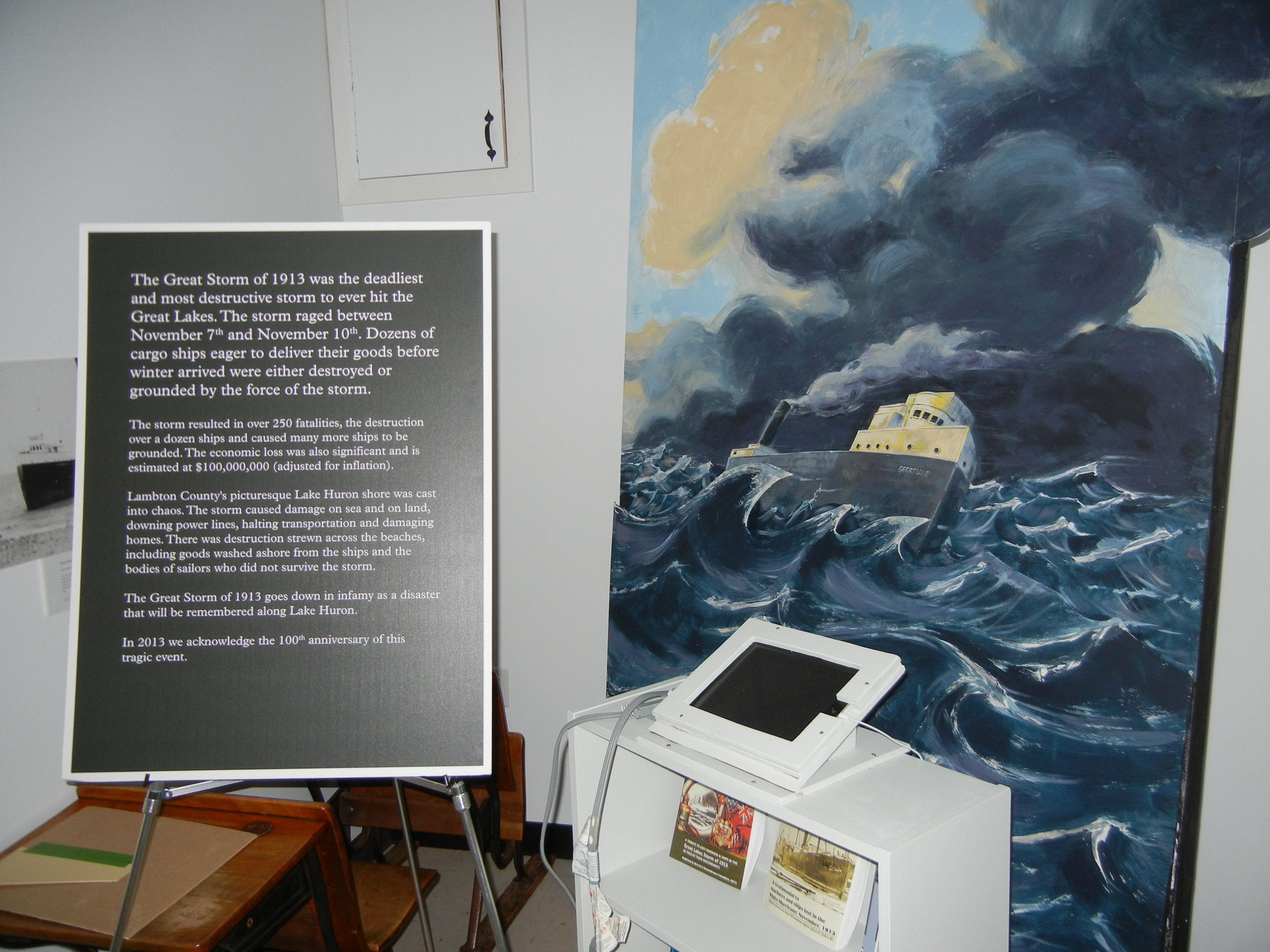 Museum exhibit of the Great Storm of 1913